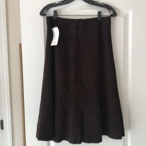 New With Tags Eileen Fisher Suede Skirt Small